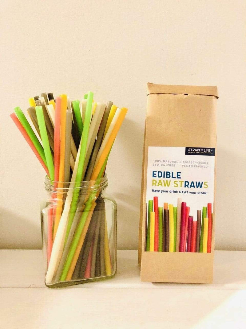 Edible Raw Straws - 25 pack - Parnell Baby Boutique