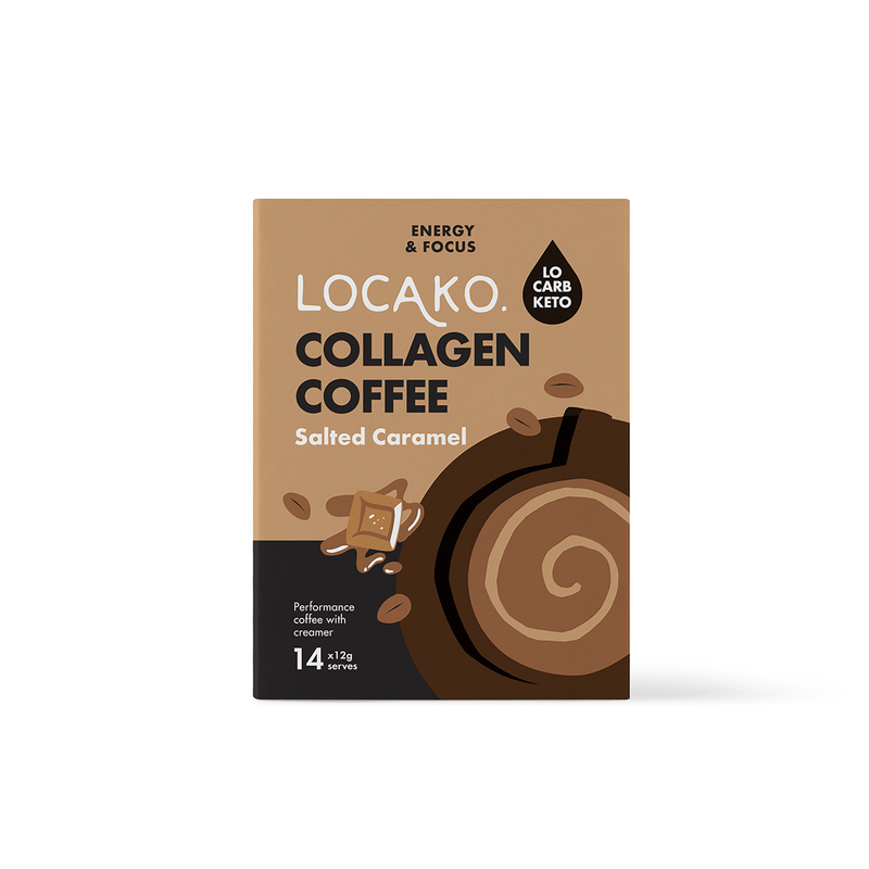 Locako: Collagen Coffee Sachets Salted Caramel (14pack) - Parnell Baby Boutique