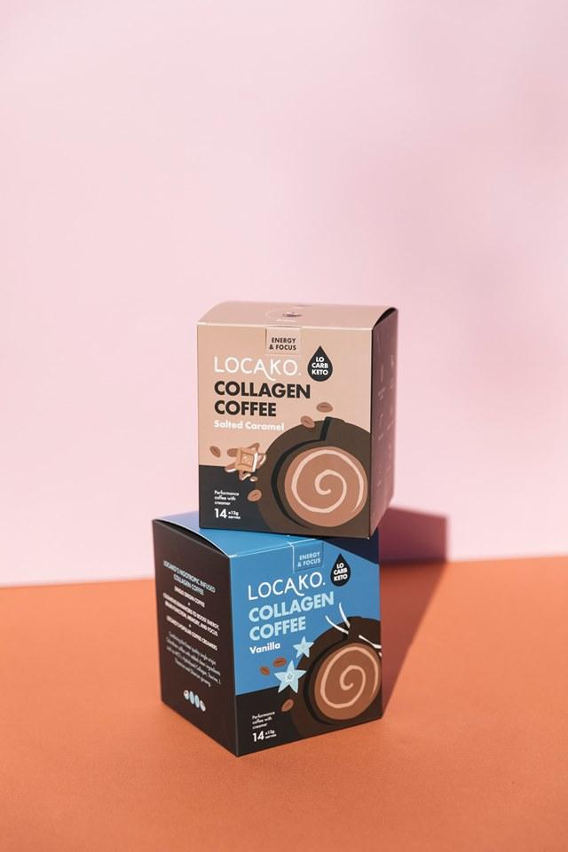 Locako: Collagen Coffee Sachets Vanilla (1pack)