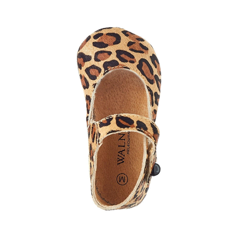 Walnut Melbourne Baby Leopard Mary Jane - Parnell Baby Boutique