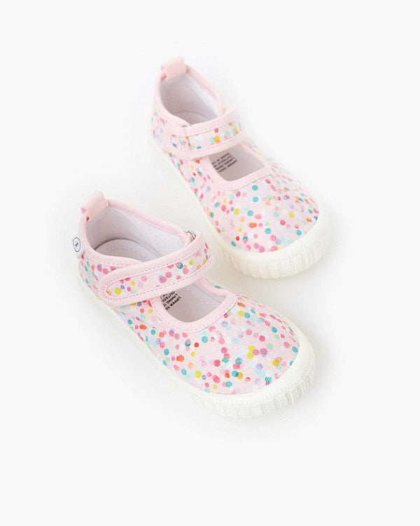 Poppies for Grace Mary Jane Canvas Shoe - Parnell Baby Boutique