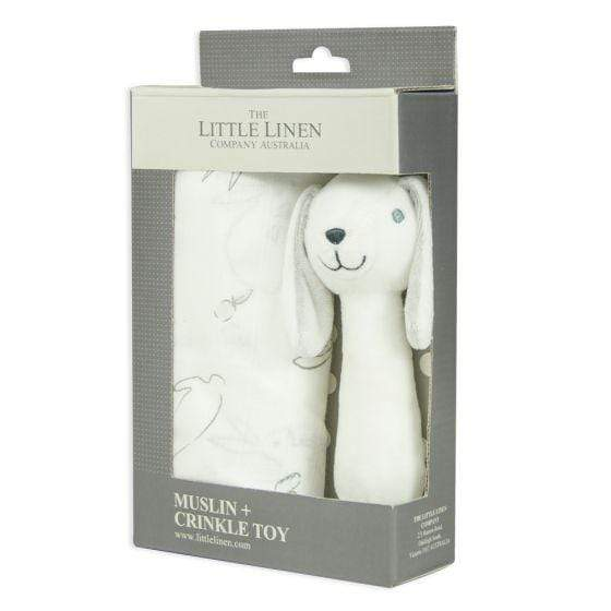 Ivory Bunny Muslin Wrap and Toy - Parnell Baby Boutique