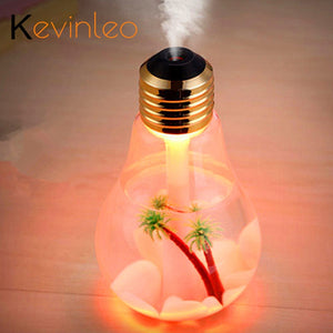 400ML Bulb Essential Oil Diffuser Ultrasonic LED