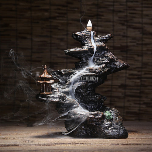 Lofty Mountains Flow-water Incense Burner
