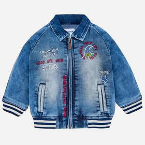 Boys Denim Jacket with embroidered wave logo.