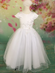 C3109 Sleeve Couture Communion Dress
