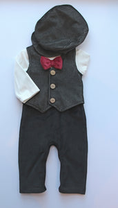 2pc Vest Jumpsuit w Cap