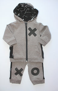 2pc Gry Zip Hoodie and Pant