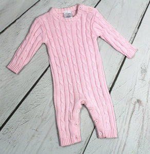 Cable knit romper
