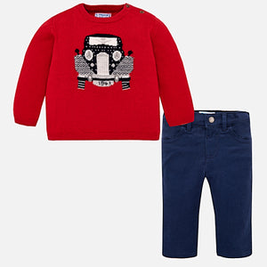 2pc Red Sweater w Pants