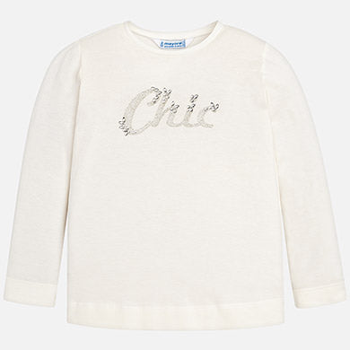 """Chic"" Girls White T"
