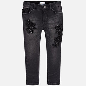 Blk Embroidered Pant