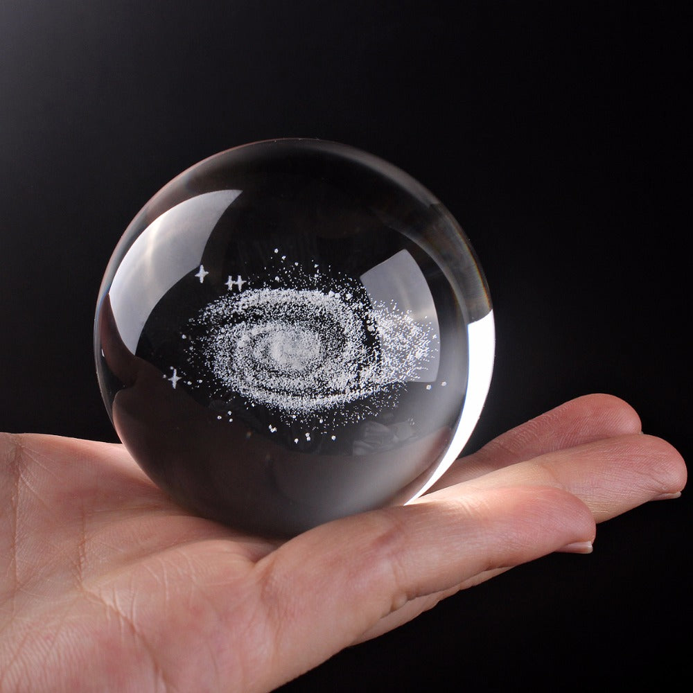Globe Galaxy Crystal Ball 3D Laser Engraved - https://www.sugarcoateddecor.com/