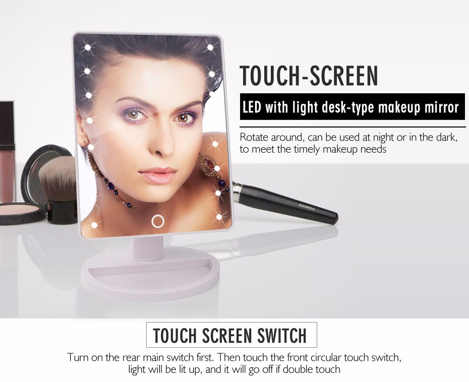 Touch Screen Makeup Mirror - https://www.sugarcoateddecor.com/
