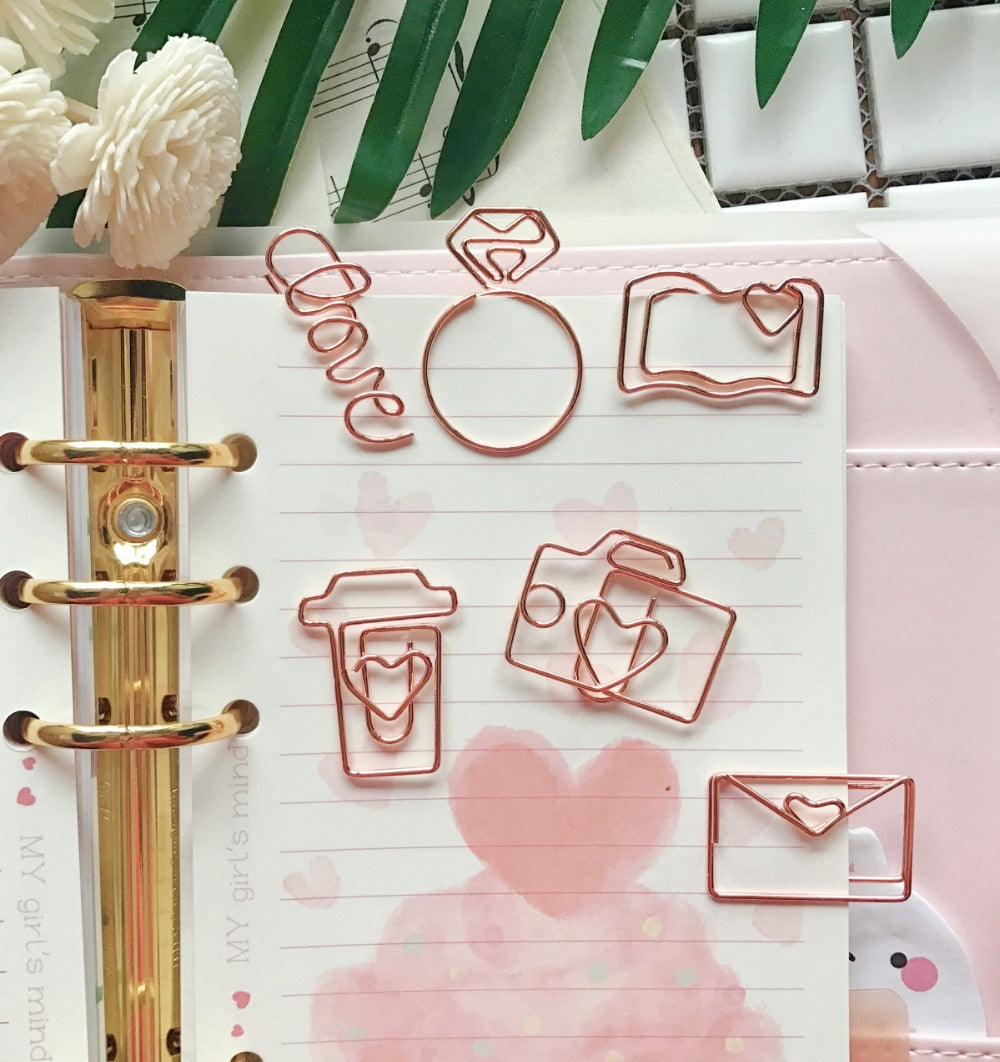 Rose Gold Paper Clips - https://www.sugarcoateddecor.com/