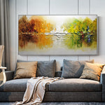 Handmade Abstract Landscape Oil Painting On Canvas - https://www.sugarcoateddecor.com/