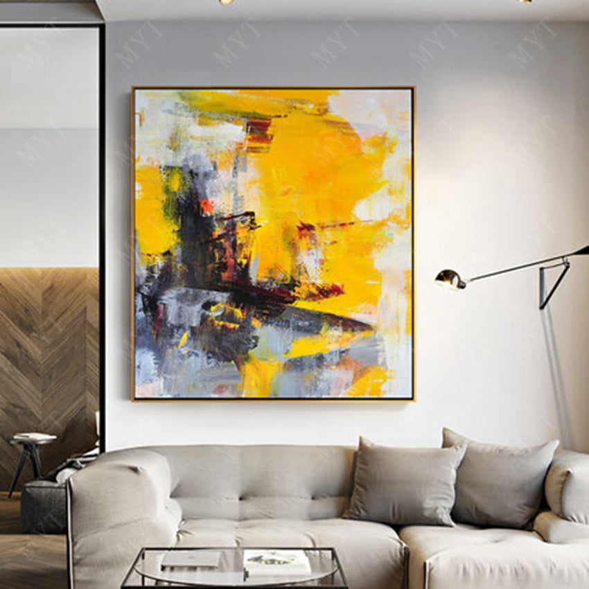 Abstract Modern Handmade Oil Painting - https://www.sugarcoateddecor.com/