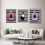 Lipstick & Perfume Coco Fashion Canvas Prints - https://www.sugarcoateddecor.com/