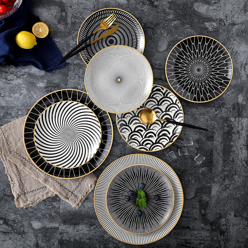 Arty Design Dinner Plate Collection - https://www.sugarcoateddecor.com/