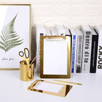 Luxurious Gold Office Organizer - https://www.sugarcoateddecor.com/