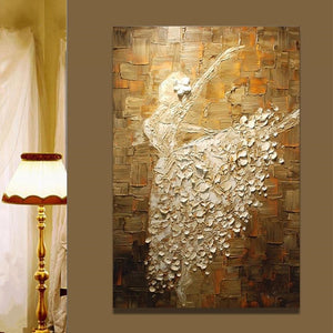Ballet Dancer Lady Knife Art Oil Painting - https://www.sugarcoateddecor.com/