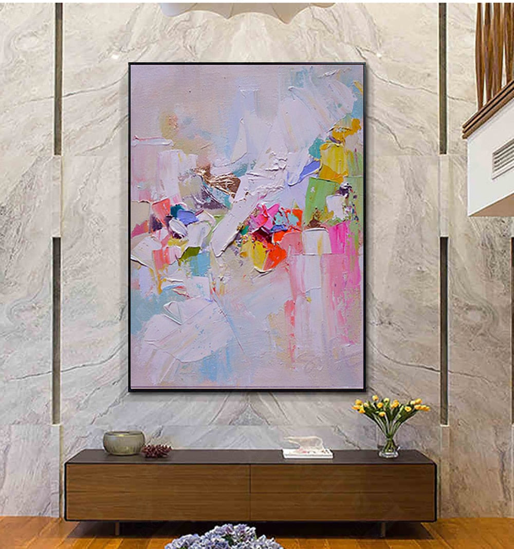 Luxury Abstract Handmade Oil Painting - https://www.sugarcoateddecor.com/