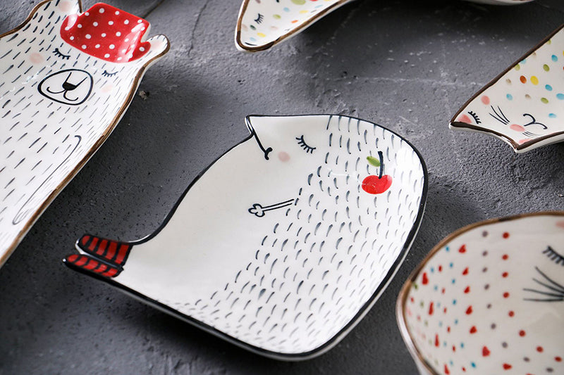 Cute Cartoon Ceramic Plates & Bowls - https://www.sugarcoateddecor.com/