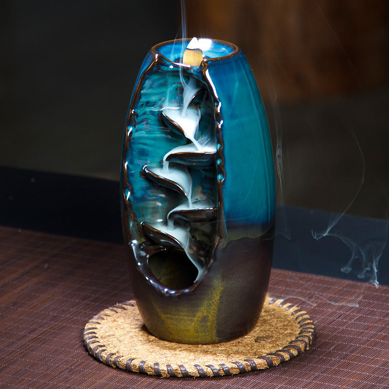 Mountain River Handcrafted Incense Burner - https://www.sugarcoateddecor.com/