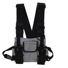 Load image into Gallery viewer, Fashion Nylon Chest Rig Bag Black Vest Hip Hop Streetwear Functional Tactical Harness Chest Rig Kanye West Wist Pack Chest Bag