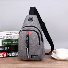 Load image into Gallery viewer, Men's Shoulder Bag Sling Chest Oxford USB Charging Sports Crossbody Handbag