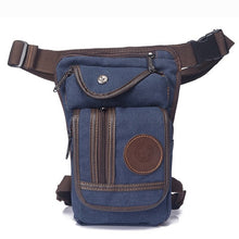 Load image into Gallery viewer, Canvas/Nylon Men Waist Pack Leg Drop Bags Motorcycle Crossbody Messenger Shoulder Belt  Hip Purse Pouch Thigh Fanny Bags