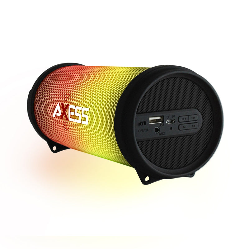 Axess HIFI Bluetooth Media Speaker with Colorful RGB Lights in Black - Bent Buys