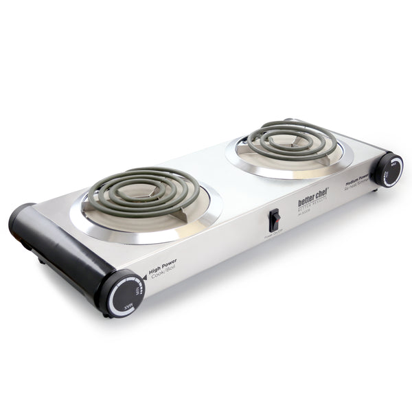 Better Chef Stainless Steel Dual Electric Burner - Bent Buys