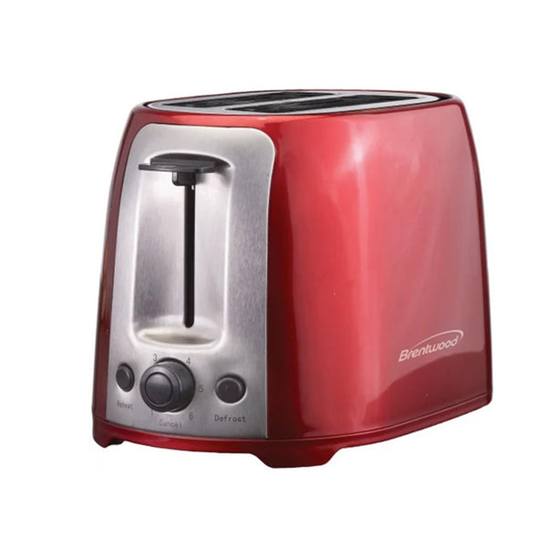 Brentwood 2 Slice Cool Touch Toaster ; Red and Stainless Steel - Bent Buys