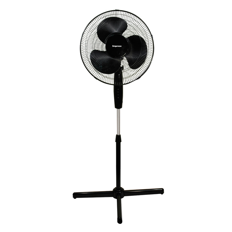 Impress Handi-Fan 16 Inch Oscillating Stand Fan- Black - Bent Buys