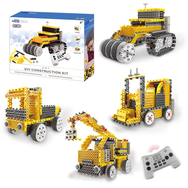 Vivitar KidsTech DIY 4 in 1 Construction Vehicle Kit - Bent Buys