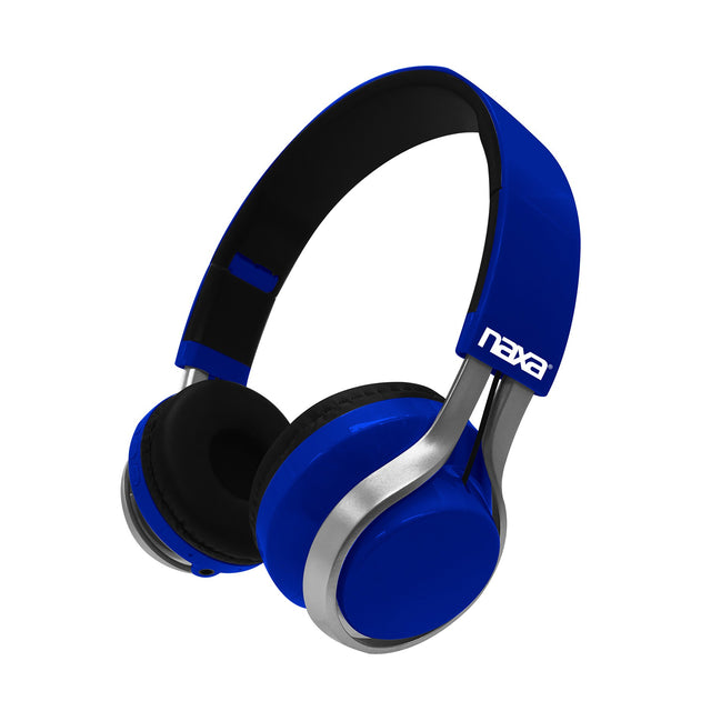 Naxa  METRO GO Bluetooth® Wireless Headphones - Blue - Bent Buys