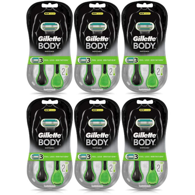 Gillette Body Disposable Razors - 12 Count - Bent Buys