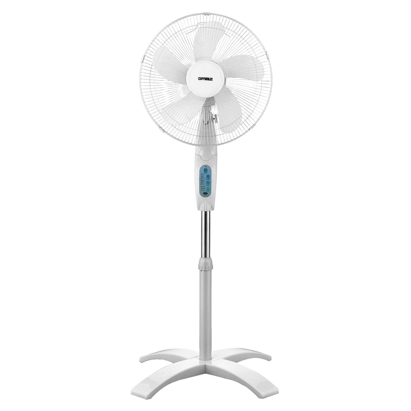 Optimus16 in. Wave Oscillating 3-Speed Stand Fan with Remote Control - Bent Buys