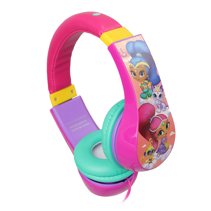 Nickelodeon Shimmer and Shine Volume Limiting Wired Kids Headphones - Bent Buys