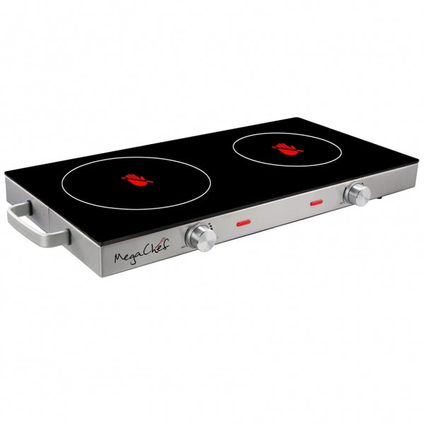 MegaChef Ceramic Infrared Double Electical Cooktop - Bent Buys