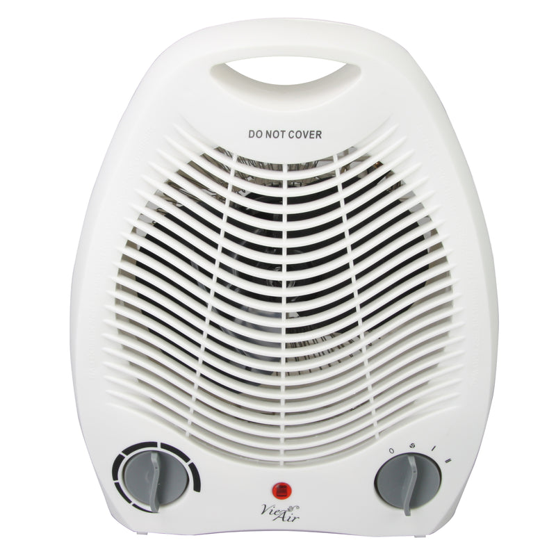 Vie Air 1500W Portable 2 Settings White Office Fan Heater with Adjustable Thermostat - Bent Buys