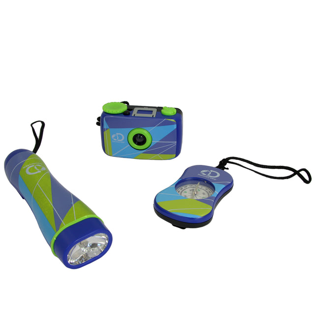Discovery Kids 3-Piece Adventure Kit with Compass, Flashlight, and Binocular - Bent Buys