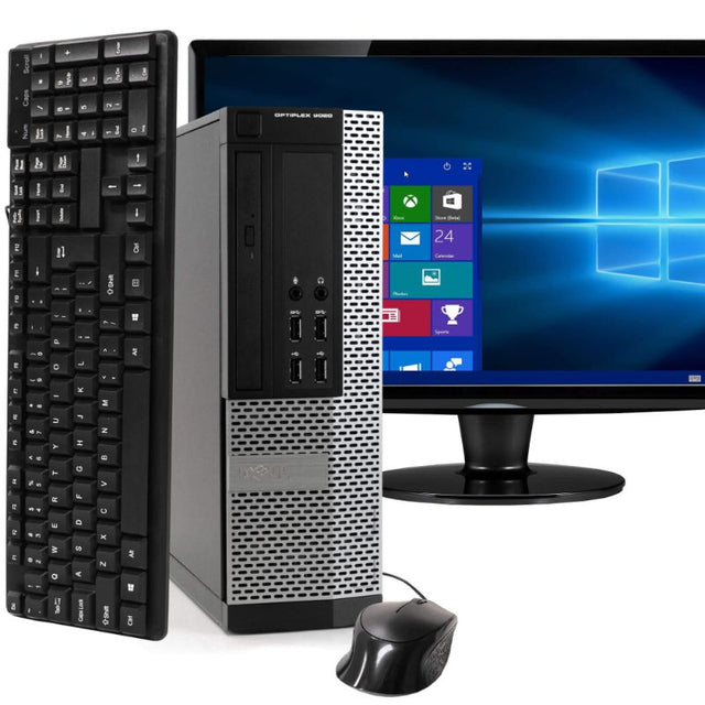 "Dell Optiplex 9020 Tower Computer PC  Windows 10 Home 22"" Screen - Bent Buys"