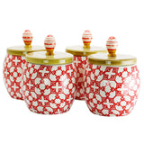 Urban Market Life on the Farm 4 Piece 1.7 Quart Durastone Canister Set in Red - Bent Buys