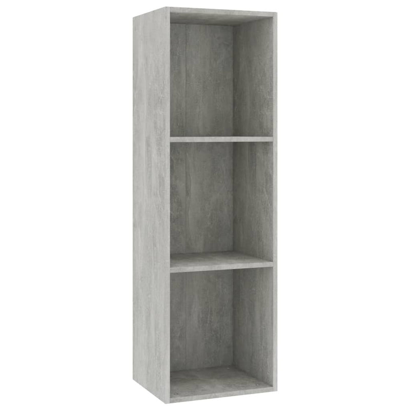 "Book Cabinet/TV Cabinet Concrete Gray 14.2""x11.8""x44.9"" Chipboard - Bent Buys"