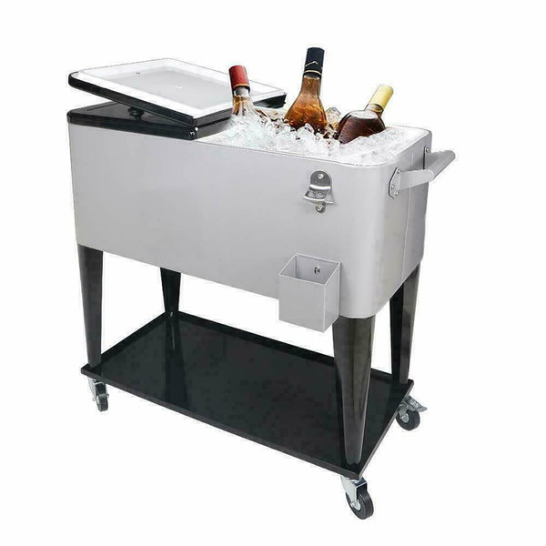 Rolling Party Iron Spray Cooler/Warming Cart - Bent Buys