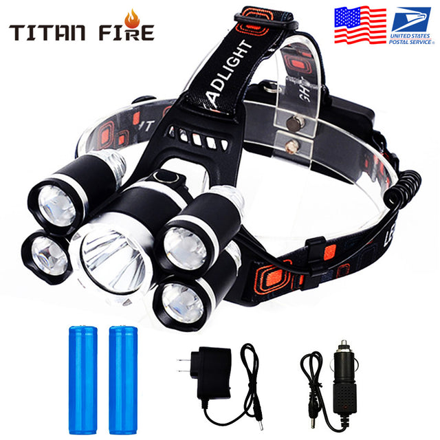 Rechargeable Waterproof Headlamps Flashlight - Bent Buys