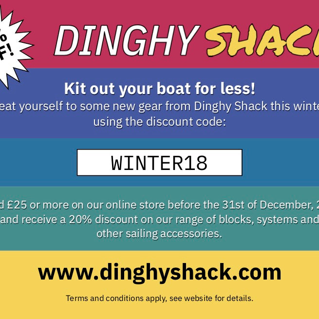 Dinghy Shack's winter promotion is now on!
