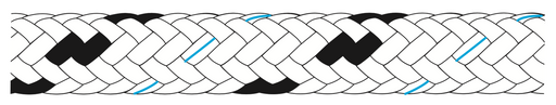 Kingfisher 50m x Braid-on-braid polyester melanges rope - Dinghy Shack